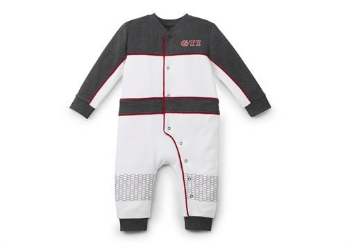 Baby romper i str. 68/74, Hvid / Grå / Rød, GTI Collection