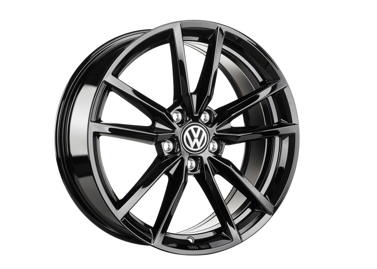 Fabriksnye VW Golf 18 Pretoria (Blank sort), alufælge (UDSOLGT PÅ SHOPPEN) AG-26
