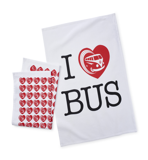 "Viskestykker ""I love bus"""